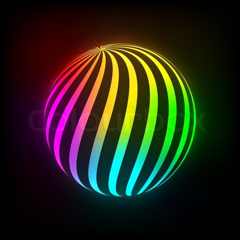 bright light ball stock vector colourbox