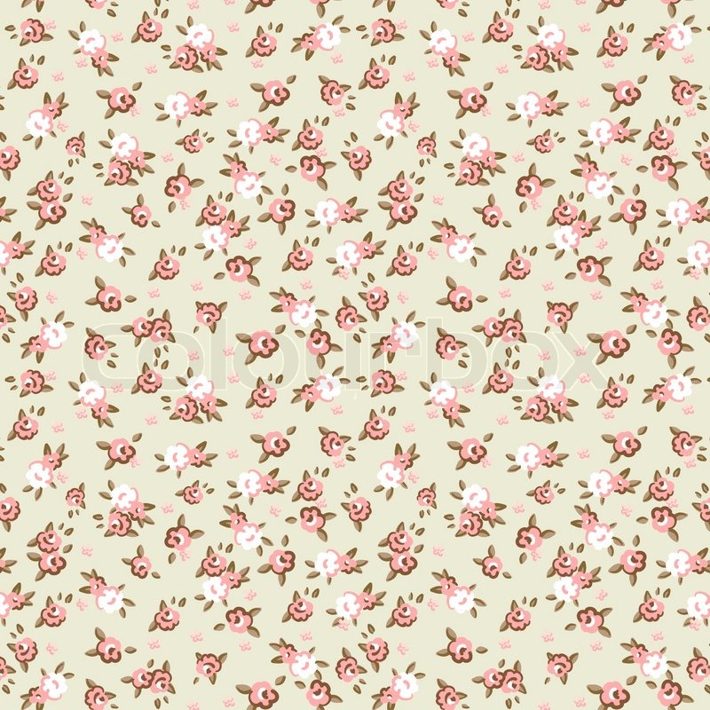 English Rose Seamless Wallpaper Pattern With Pink Roses On Blue Background Vector Illustration