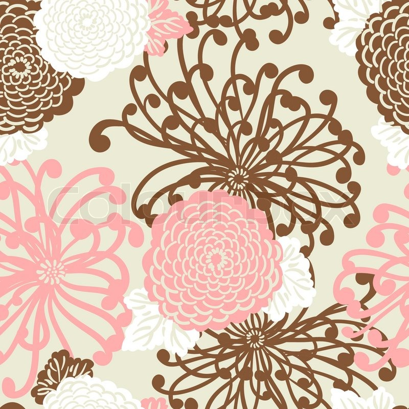 Art deco flower seamless pattern retro style vector for Style retro deco