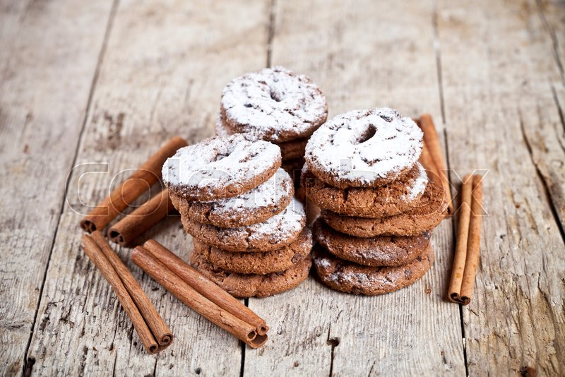 Fresh Baked Chocolate Chip Cookies With Stock Image Colourbox