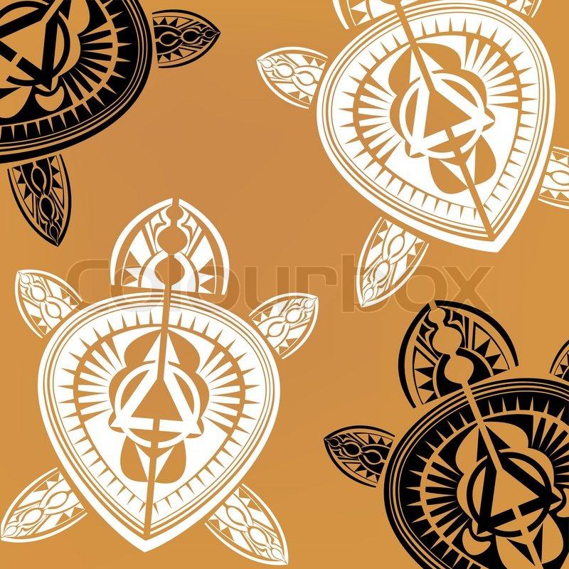 Stock vector of 'Maori / Polynesian Style Turtle tattoo'
