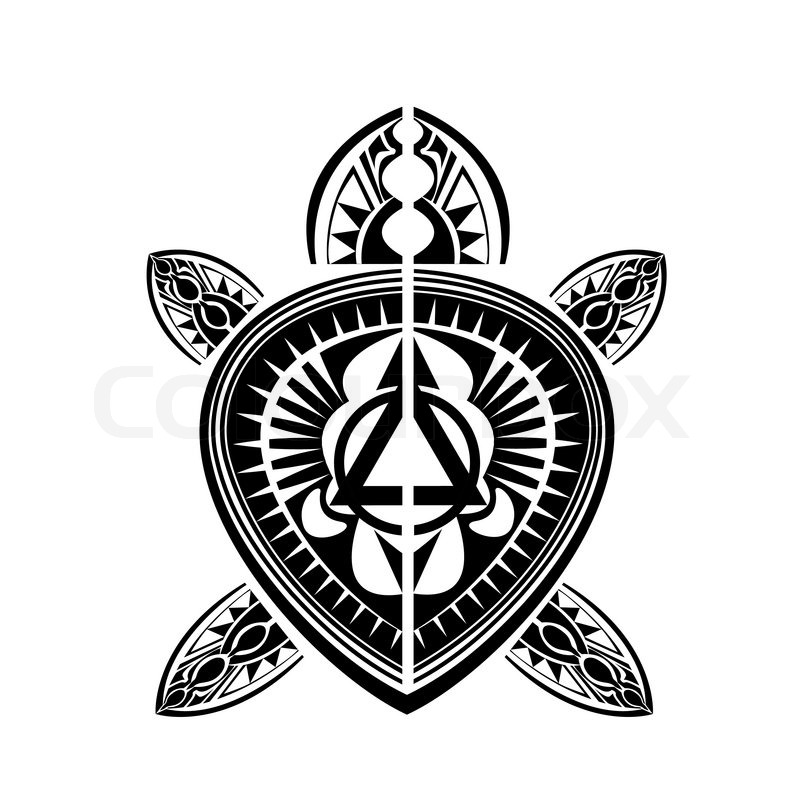 Maori Polynesian Style Tattoo Stock Vector Colourbox