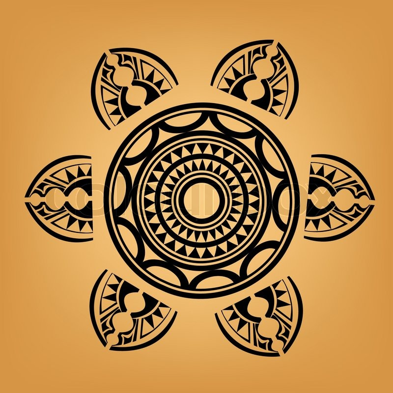 Polynesian Tattoos on Stock Vector Of  Maori   Polynesian Style Tattoo