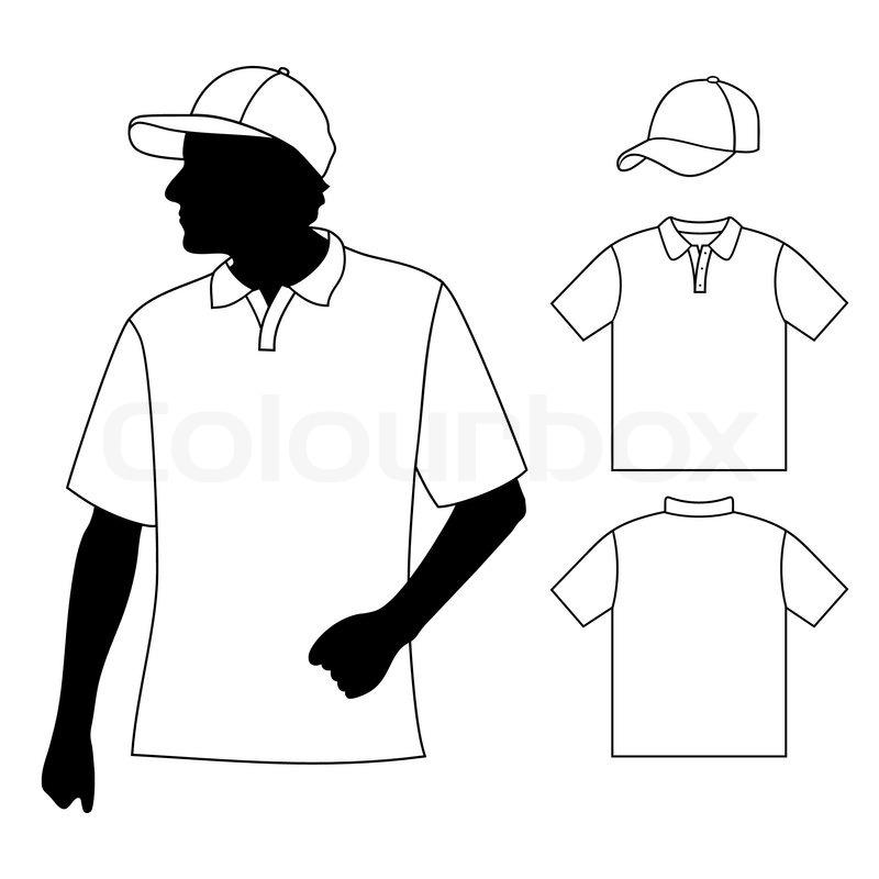 T Shirt Herren Polo Shirt Vorlage Mit Vektorgrafik Colourbox