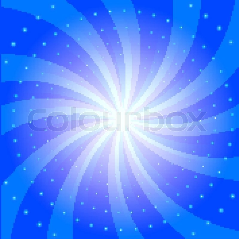 abstract vector radial blue background with glow effect stock