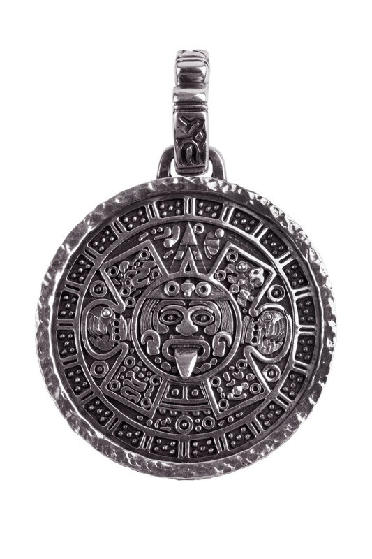 Pendant engraved with the mayan calendar stock photo colourbox aloadofball Images