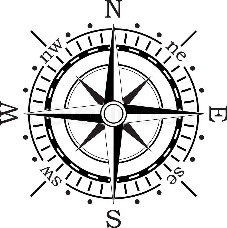 Vector black compass stock vector