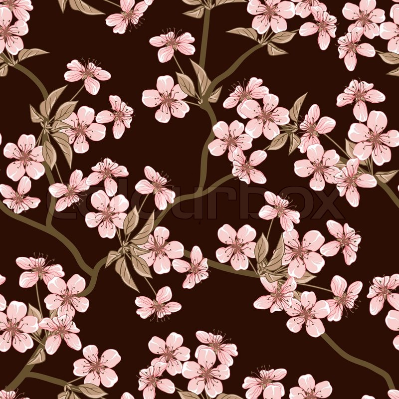 Seamless flowers pattern Stock Vector Colourbox