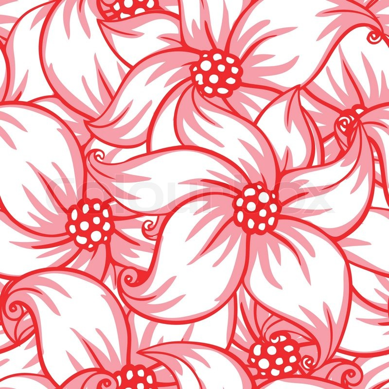 Cute pink floral seamless pattern background stock vector colourbox mightylinksfo