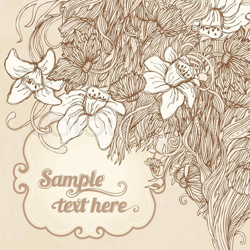 Einladung Grusskarte Blumen Hintergrund Hochzeit Oder Valentinstag