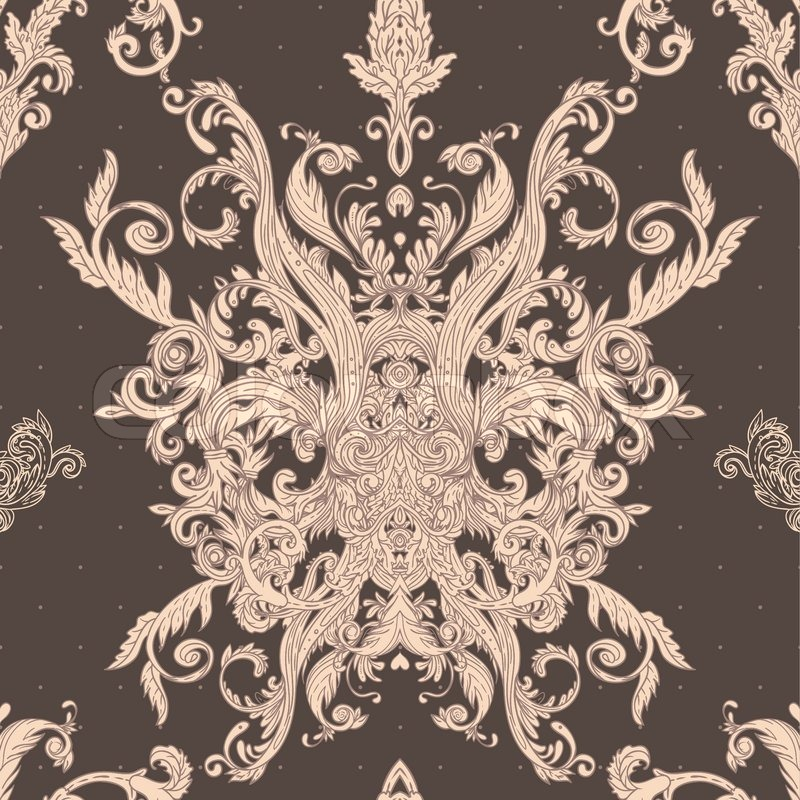 Baroque Pattern Seamless seamless vintage baroque pattern vector ...