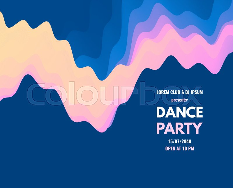 Dance Party Invitation With Date And Stock Vector Colourbox