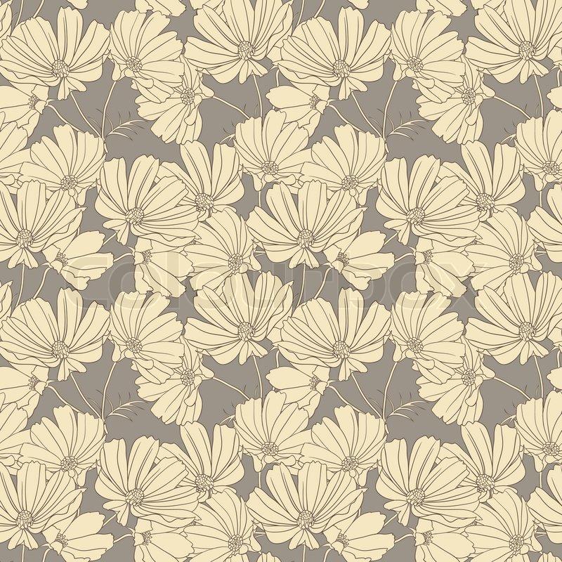 Vintage wallpaper seamless pattern Vector Image #83541 - RFclipart
