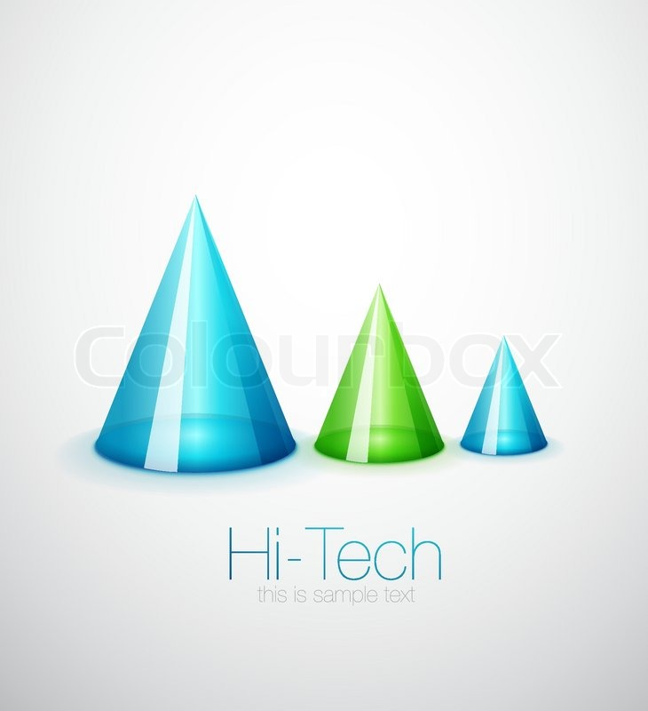 Cone Background Glass Cone Background Vector