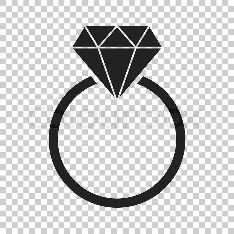 Engagement Ring With Diamond Vector Stock Vector Colourbox