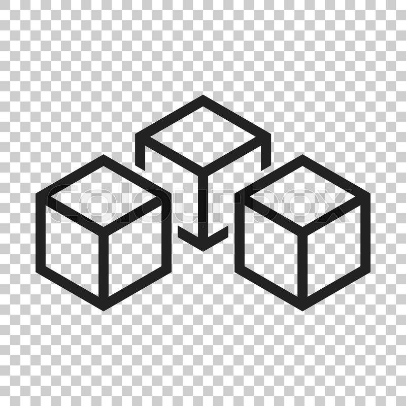 Blockchain technology vector icon in     | Stock vector
