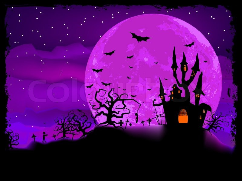 Halloween Poster With Zombie Stock Vector Colourbox
