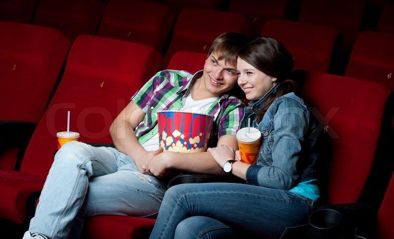 Couple in cinema   Stock Photo   Colourbox