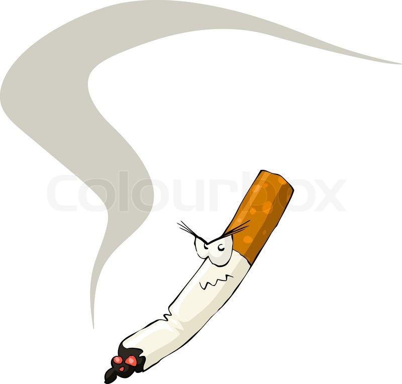how to draw cigarette smoke cartoon