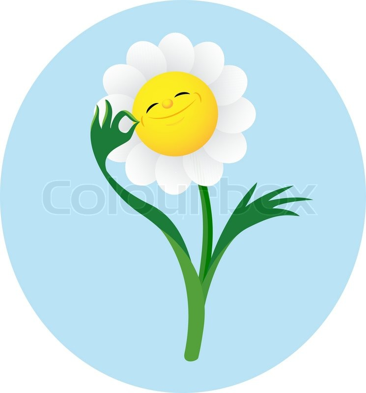 smiling cute flower showing gesture ок  stock vector  colourbox, Beautiful flower