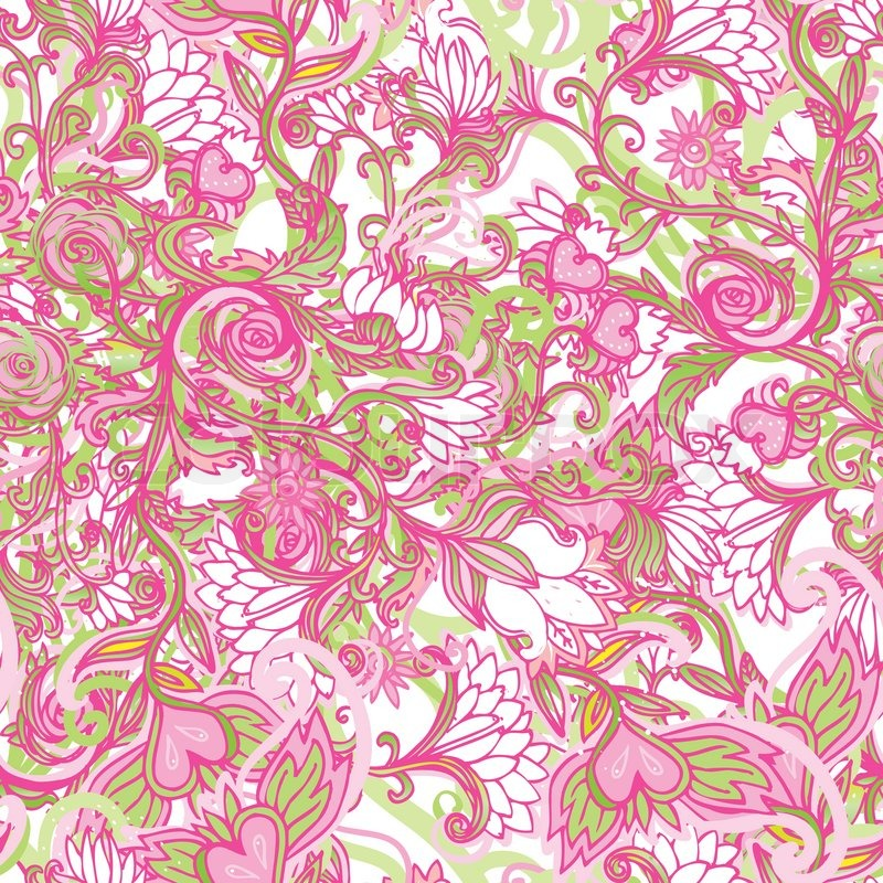 Seamless pink floral pattern - photo#49