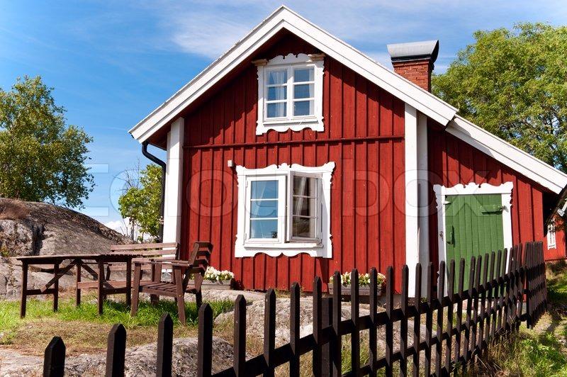Scandinavian Houses scandinavian private house | stock photo | colourbox