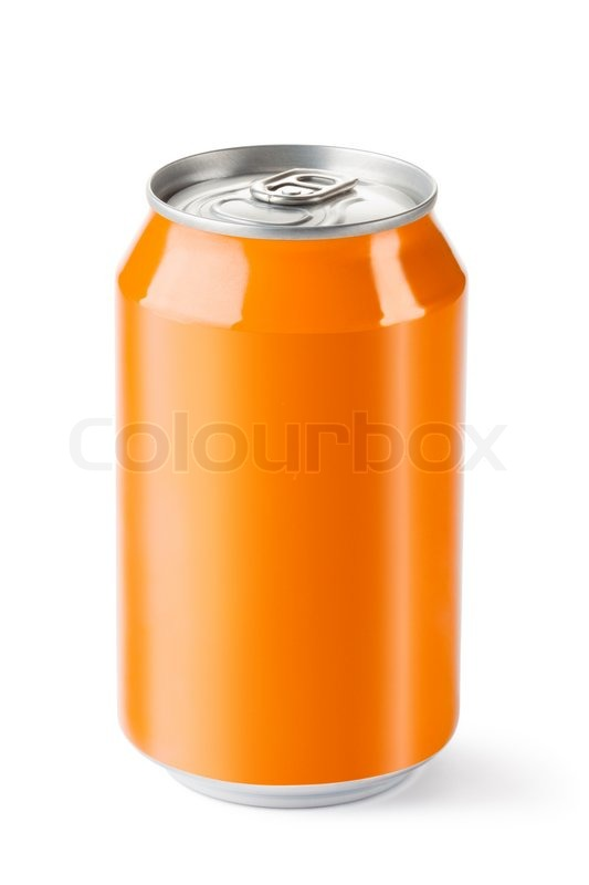 Orange Silver Can Drink