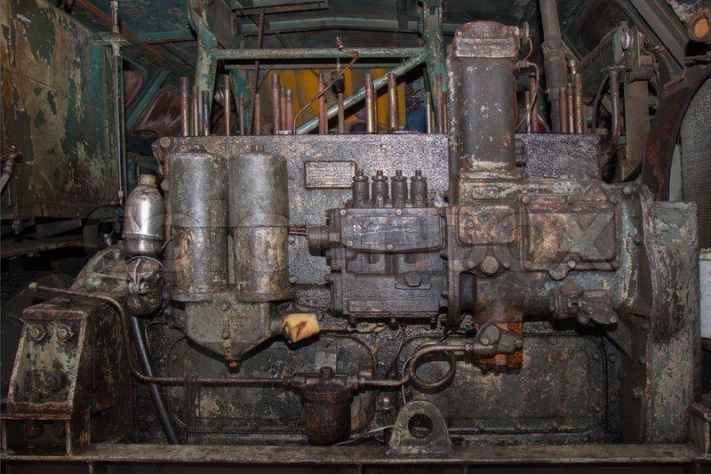 Old Diesel Engine Stock Photo Colourbox