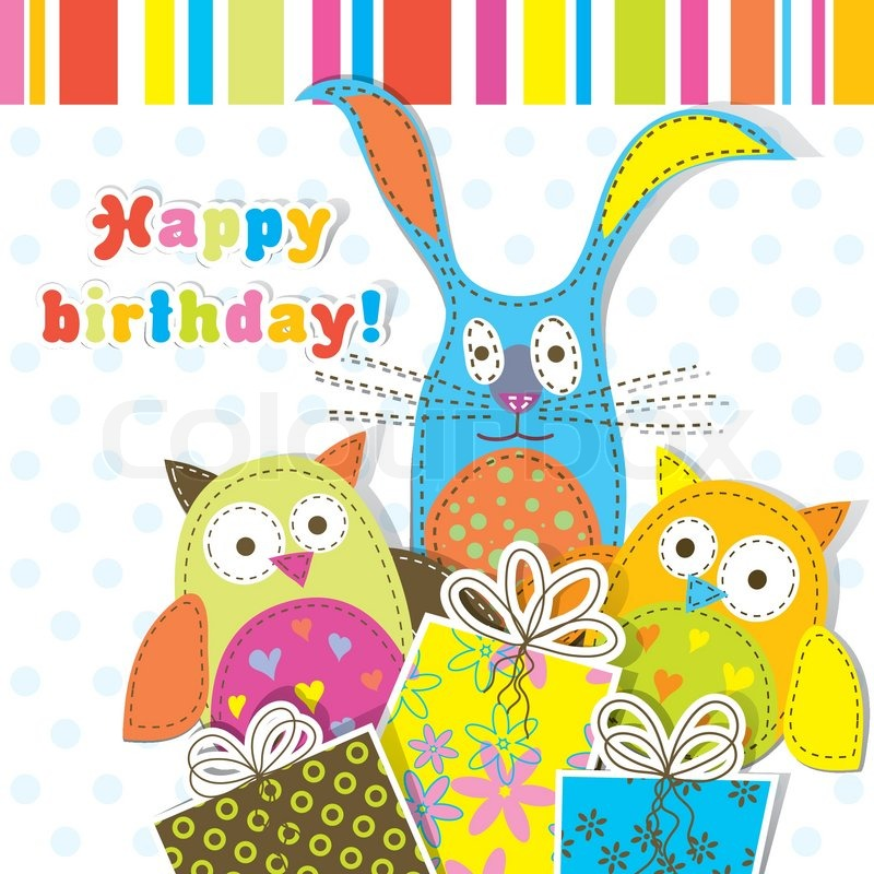 Kids birthday card template hcsclub m4hsunfo