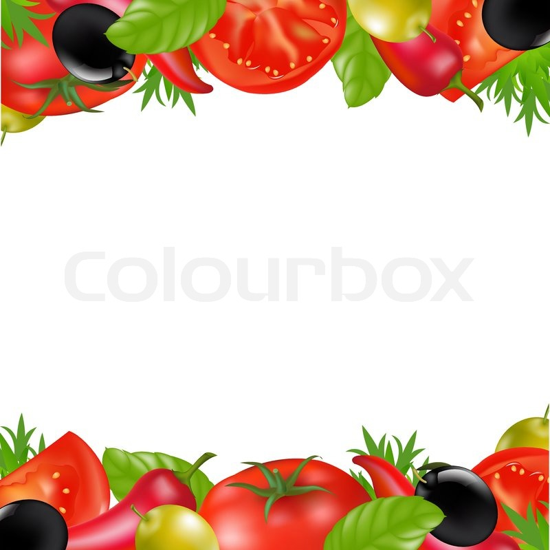 border with vegetables stock vector colourbox Education Clip Art Borders free educational clipart borders