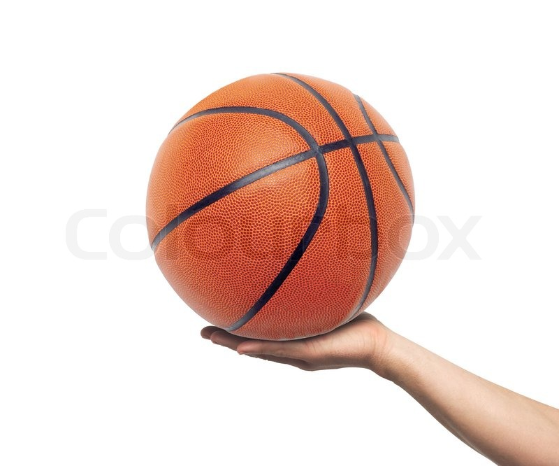 Hand with basketball ball isolated on ...   Stock Photo ...