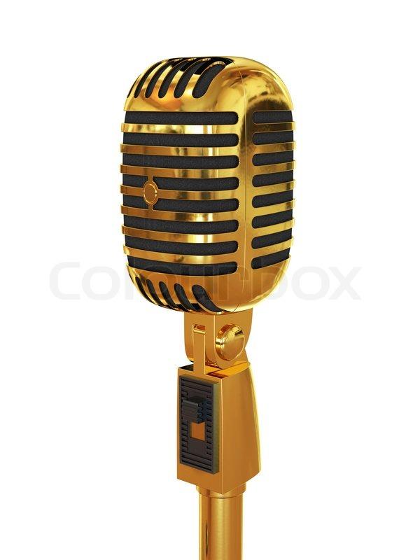 Microphone Gold Stock Photo Colourbox