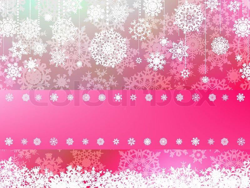 Pink Christmas With Snowflake EPS 8