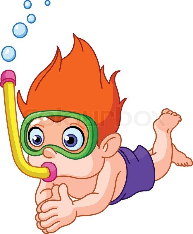 Schwimmen cliparts kostenlos  Schnorcheln | Stockfotos kaufen | Colourbox
