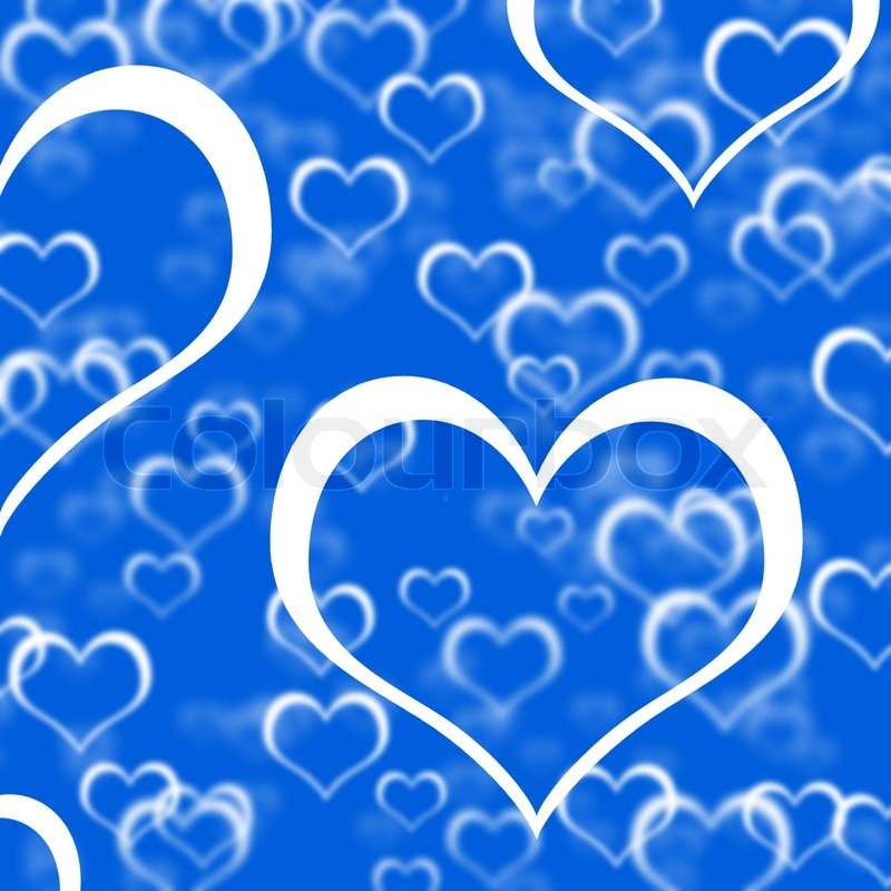 Intertwined Hearts Blue Hearts Background...