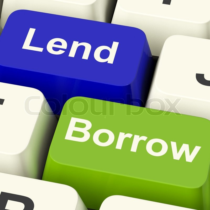 lend and borrow keys showing borrowing or lending on the