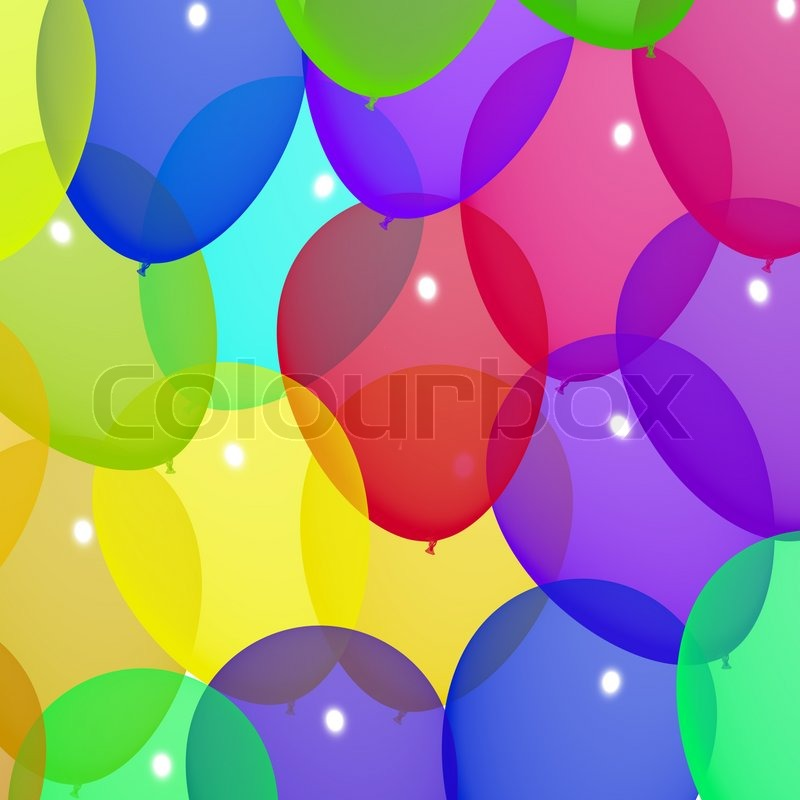 festive colorful balloons in the sky for birthday or