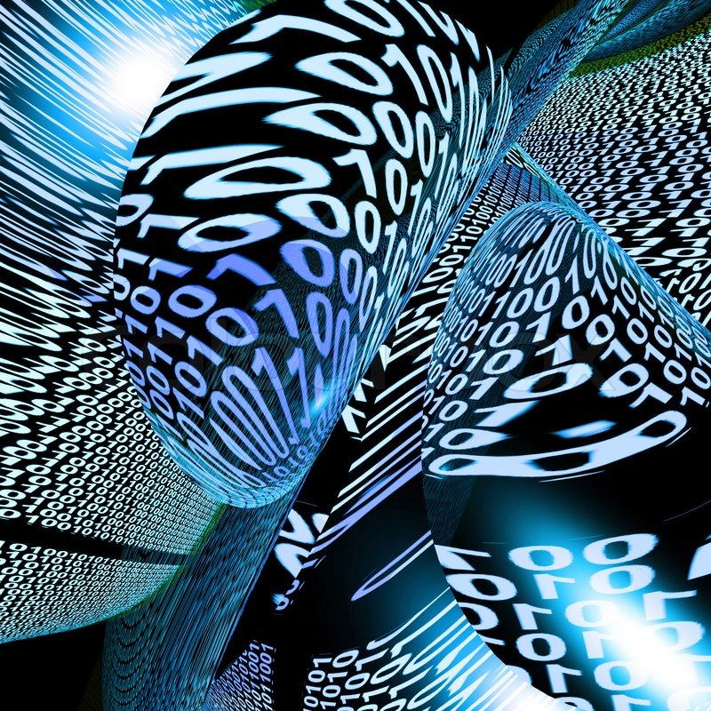 Stock image of 'Abstract Binary Code Background Showing Technology And Computing'