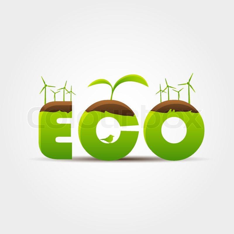 Ecoconcept eco concept | stock vector | colourbox