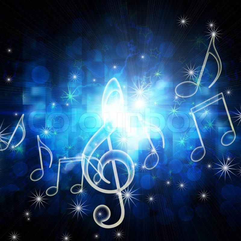 Stars And Music Notes Wallpaper