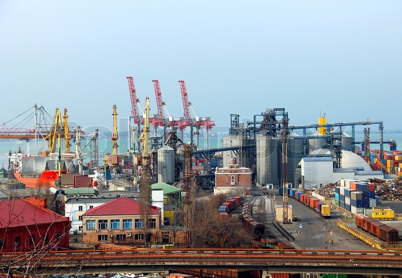 Industrial Landscape Of Odessa City Port Ukraine