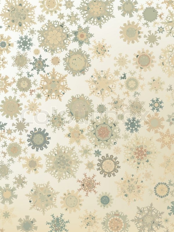 template retro snowflakes background eps 8