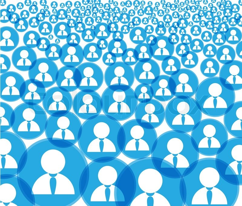 Abstract Crowd Of Social Media Account Icons Stock