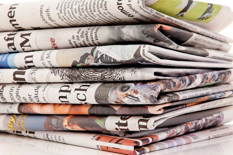 Stacks of old newspapers and magazines | Stock Photo | Colourbox