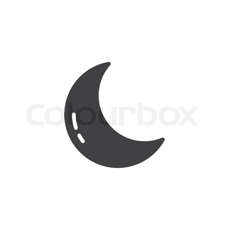 crescent moon vector icon filled flat stock vector colourbox colourbox