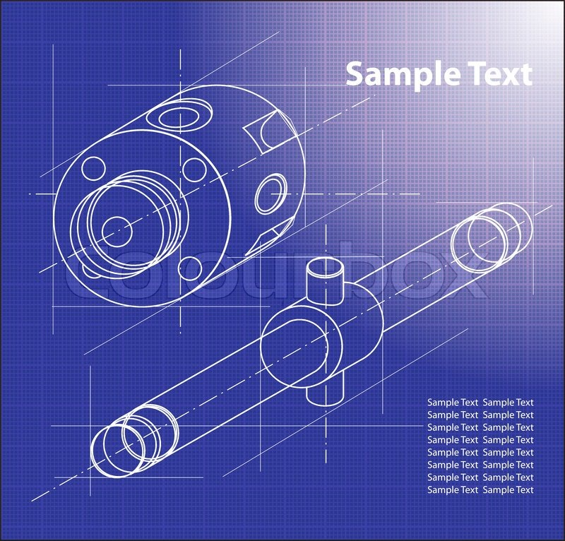 Technical blueprint vector technical background part of technical blueprint vector technical background part of technical project drawing technical letters design on paper technical part stock vector malvernweather Image collections