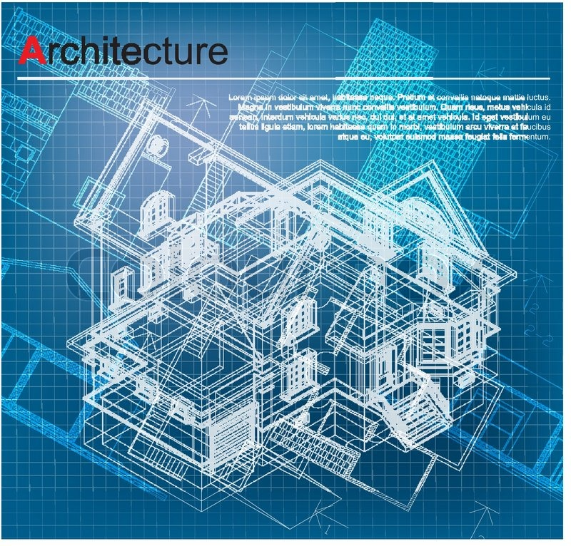 Diagram Urban Blueprint Vector Architectural Background Part