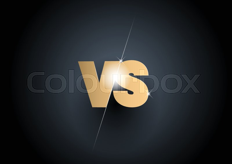 Versus Sign Gold 3d Symbol Poster Stock Vector Colourbox