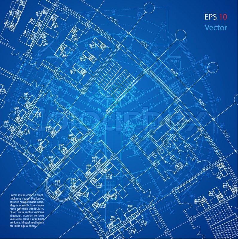 Urban Blueprint vector Architectural Background Part
