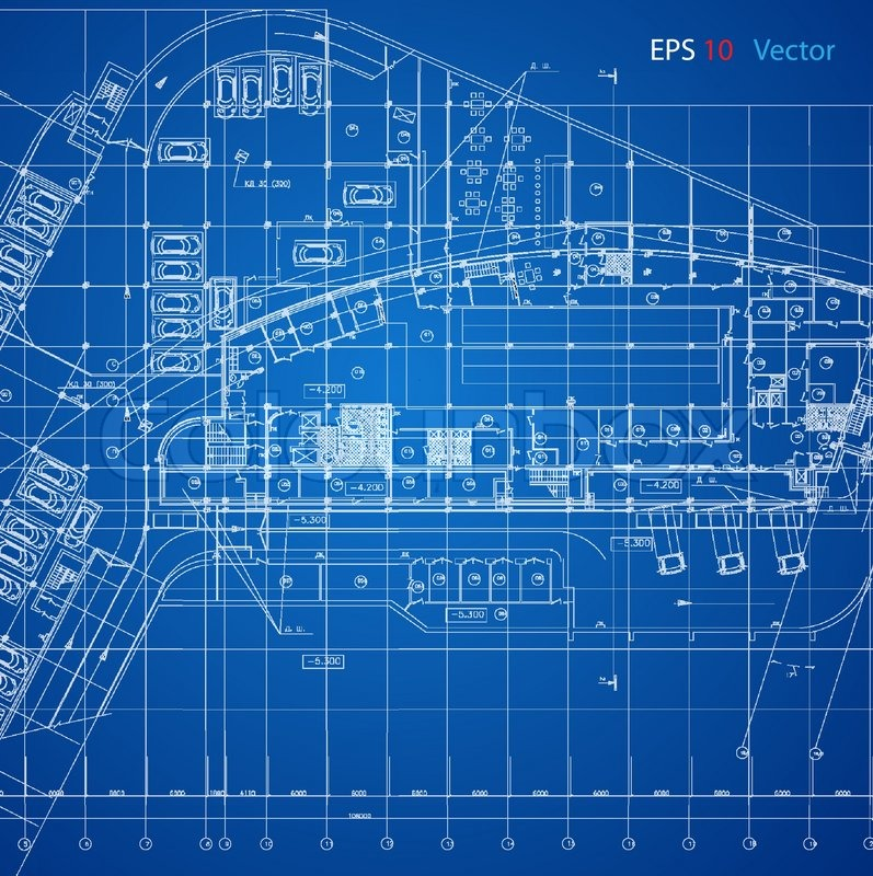 Urban Blueprint  Vector   Architectural Background  Part